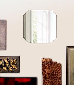 壁掛け鏡・ウォールミラー、クリスタルミラー・シリーズ(一般空間用)、クリアーミラー・クリスタルカットタイプ、スクエア・エメラルド(SquareEmerald):c-squareemerald450x450-9mm