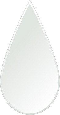 壁掛け鏡・ウォールミラー、クリスタルミラー・シリーズ(一般空間用)、クリアーミラー・クリスタルカットタイプ、ティアドロップ(Teardrop):c-teardrop320x600-9mm