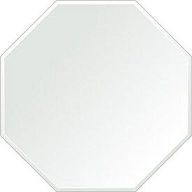 風水鏡 450x450mm 正八角形 クリスタルカット 日本製 風水 鏡 八角形 鏡 壁掛け ミラー 壁掛け 5mm厚 取付金具と説明書 壁掛け鏡 壁に直付け ウオールミラー 姿見 鏡 全身 おしゃれ 軽量 (8角 八角 オクタゴン 八角鏡)