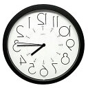 時計 クロック 掛け時計 掛時計 壁掛け時計 おしゃれ デザイン インテリア 通販 (逆転時計、脳トレ!理髪店や美容室にもお勧め);QsL88t6