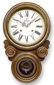 日本製 レトロなデザインの掛け時計 壁掛け時計 掛時計 壁掛け 時計 かけ時計 木製 プレゼント ギフト おしゃれ アンティーク 北欧 シンプル (振り子時計 振り子 時計 仕掛け時計)