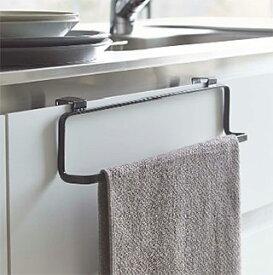 ワイドタイプのタオルハンガー タオル掛け タオルレール タオルバー(キッチン流し台や洗面台のドア 扉に取り付け):2y74z7