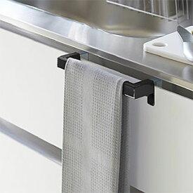 タオルハンガー タオル掛け タオルレール タオルバー(キッチン流し台や洗面台のドア 扉に取り付け):2y85z4