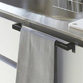 ワイドタイプのタオルハンガー タオル掛け タオルレール タオルバー(キッチン流し台や洗面台のドア 扉に取り付け):2y85z6