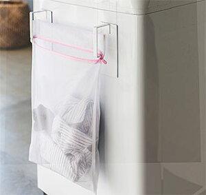 マグネット(磁石)タイプの洗濯ネットハンガー 洗濯ネット掛け 洗濯ネットレール 洗濯ネットバー:3y62z1
