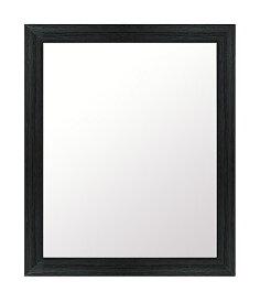 クールなブラック色 鏡 壁掛け ミラー 483x584 長方形 国産 壁掛け鏡 壁掛けミラー ウォールミラー 姿見 鏡 全身 吊り下げ レトロ アンティーク おしゃれ 額 フレーム 額縁 角型 四角 四角形 黒 黒色