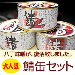 鯖缶セット(味付缶・唐辛子缶・八丁味噌味)【福井 お土産】