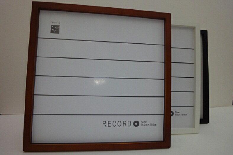 (木製) 【あす楽】 LPレコード額縁・LPレコードフレーム・ レコードスタンド・ 316mm角  スタンド付き、激安