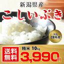 【送料無料】【平成28年産】新潟県産 こしいぶき 10kg (米袋をお選びいただけます!10kg×1袋 or 5kg×2袋)【お中元 お歳暮】