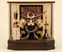 五月人形 佳月 K-100 上杉謙信公 コンパクト 兜ケース飾り 兜飾り 兜 六角ケース オルゴール付 アクリルケース 端午の節句 5月人形