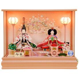 雛人形 ひな人形 K101 コンパクト 佳月 かげつ 雛人形 雛 ケース飾り 雛 親王飾り 雛名匠・逸品飾り 高級品 即実発送【ケースにオルゴール付】【2020年新作】