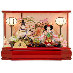 雛人形 ひな人形 K108-BY コンパクト 佳月 かげつ 雛人形 雛 ケース飾り 雛 親王飾り 雛名匠・逸品飾り 高級品 即実発送【2021年新作】