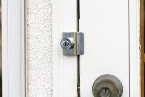 補助錠 玄関 勝手口 倉庫 車庫など扉の防犯 モヒトツロック【カギ/鍵】
