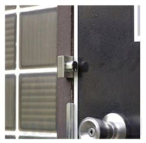 補助錠 玄関 勝手口 倉庫 車庫など扉の防犯 おでかけロック 【細枠用】鍵 カギ