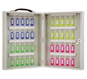 鍵の保管・管理 FUKI iNAHO キーボックス40本掛け 携帯持運び・壁掛固定の兼用(カギ付き)