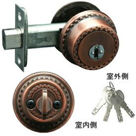 長沢 古代(NFシリンダー)チューブラ本締錠BS60mm 扉厚30〜40 GBキー4本付 鍵 交換(22045GB)