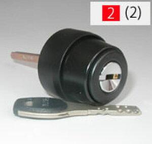 メーカー純正品アルファFBロック仕様ALPHA(アルファ)FBロック 「ACY-31」並びに「ACY-32」の交換 取替え用シリンダー 3690鍵(カギ)色はブラック■標準キー5本付き■【送料無料】