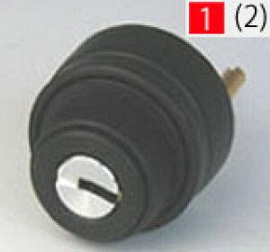 ALPHA FBロック 2190 玄関 鍵(カギ) 交換 取替え用シリンダー色はブラック■ドアの厚み31〜51mm対応品■標準キー5本付き■【送料無料】