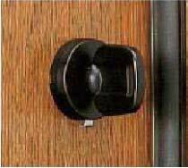 【B-3】トステム(TOSTEM=現LIXIL)ボルトNXセキュリティサムターンMIWA用玄関ドア内側のツマミ(サムターン)の交換・取替え ブラック色