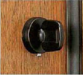 【B-3】トステム(TOSTEM=現LIXIL)ポルトNXセキュリティサムターンMIWA用玄関ドア内側のツマミ(サムターン)の交換・取替え ブラック色