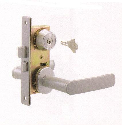 GOAL TTXの刻印のレバーハンドル内外、シリンダー、部屋内のサムターン、ドアの中に入っている錠ケース丸ごと一式の交換シルバー色■キー3本付き、ドア厚み32〜38mm、バックセット32mmタイプ