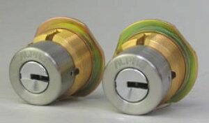TOSTEM(トステム) プレナス20、プレナス23、クリエラR玄関ドア「MIWA LE-14」「MIWA TE-01」のALPHA FBロックLIX用 玄関 鍵(カギ) 交換 取替えシリンダー2個同一キーセット《ドアの厚み27mm〜43mm用》■