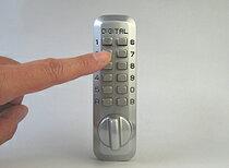 ■デジタルロックジュニアデジタル面付錠(補助錠)シルバーバックセット25mm