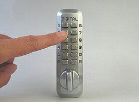 ■ デジタルロックジュニアデジタル面付錠(補助錠)シルバーバックセット25mm■左右共用タイプ■【送料無料】
