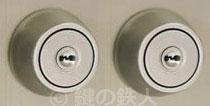 三協立山アルミ 勝手口【マディオJ】【マディオM】の交換用2個同一キーPRシリンダー・シルバー色・ドア厚み38mm■標準キー3本付き