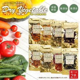 鹿児島生産農家の手作り 選べる 国産 乾燥野菜 2袋セット ドライベジタブル 保存料無添加 無漂白 鹿児島 九州