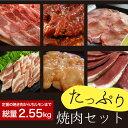 たっぷり焼肉セット2.55kg(国産牛定番上カルビ,特製たれ漬けハラミ焼肉,特選牛タンスライス,国産ヤキトン用豚カルビ,…