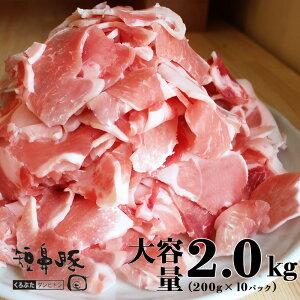 【送料無料】黒豚 切り落とし メガ盛り 2.0kg(200g×10パック)【豚肉 豚 切落し 豚コマ 鹿児島黒豚 肉 九州 短鼻豚 こま切れ 細切れ 豚小間 小分け スライス 豚肉 お肉 料理用 調理用  美味しい 絶