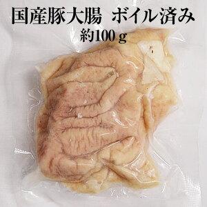 国産豚 大腸 約100g × 3パック ボイル済 豚肉 ホルモン 豚 焼肉 もつ鍋 もつ煮込み もつ 冷凍 国産 おつまみ セット バーベキュー BBQ ギフト プレゼント 送料無料 南豊 かごしまや