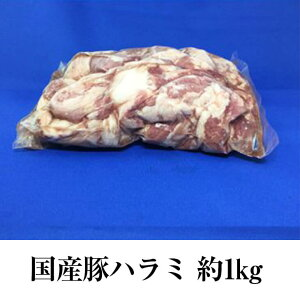 国産豚 ハラミ 約1kg × 1パック もつ鍋 もつ焼き もつ 豚肉 豚 ホルモン 真空 焼肉 冷凍 国産 おつまみ セット ギフト プレゼント 送料無料 南豊 かごしまや