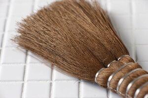 【5本セットお買い得価格】シュロばけ(大)(約)全長19cm[棕櫚刷毛・ミニ箒・パソコン掃除に]