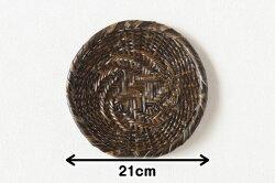 黒竹蕎麦ざる(戸隠風/虎竹)直径約21cm【盛り目安一人前】