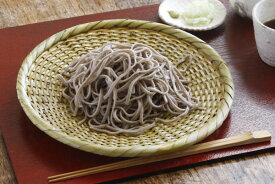 白竹 蕎麦ざる(戸隠風)直径約24cm【盛り目安 大盛りの一人前】