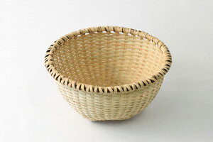 またたびざる 深型 (約)直径24×深さ13cm※手編みの為、ゆがみがございます。[奥会津編み組細工 米とぎ笊]