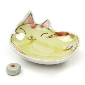 【ご予約品】手描き猫香皿 ブチ