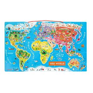 【ご予約品10月下旬入荷】【Janod ジャノー】マグネット・ワールドマップ・パズル【ポイント10倍】【DAD WAY 正規品】【送料無料】