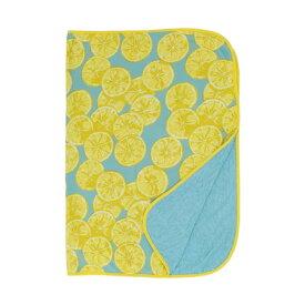 【代引不可】冷感 ひんやり 夏用 ひざ掛け 膝掛け おしゃれ かわいい レモン柄 子供 ベビー ベビーカー お昼寝用 約70×100cm Sサイズ/ 冷感ブランケットS レモン