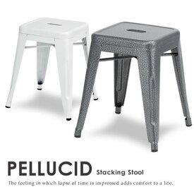 【ポイント2倍】【代引不可】【送料無料】【スツール PELLUCID-ぺルシード- 】 スツール 椅子 いす イス スチール インテリア 1人掛け スタッキング