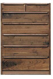 重厚感のある天然木ウォールナット無垢材使用のチェスト前板・戸枠・脚部無垢材・天板突き板仕様・国産・日本製木製・自然塗装オイル仕上エコ仕様シリーズ商品有り