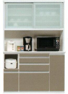 レンジボードレンジ収納食器棚レンジボードMOISSホワイト白スライドカウンター
