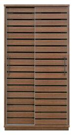 天然木ウォールナット材ダイニングボード食器棚100cmスライド式・引き戸・大型ハンドル・木製・天然木突き板引き出し付き・開梱設置サービスお届け・シリーズ商品有り