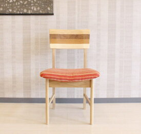 天然木ホワイトオーク無垢材の布張りダイニングチェアー貼り地カスタムオーダーできます木製椅子ファブリック国産・日本製・北欧モダン・食卓椅子・布張りエコ仕様