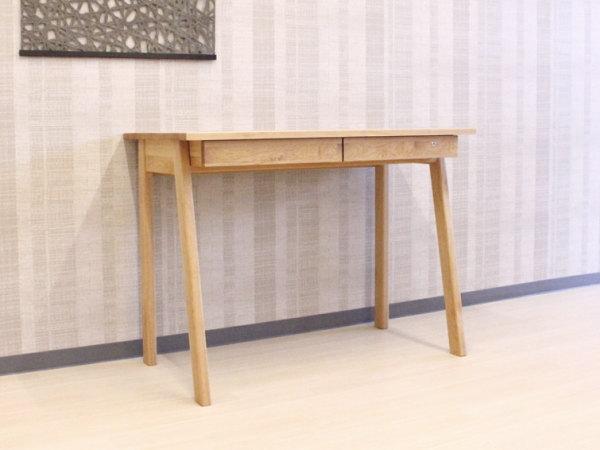 天然木アルダー&ウォールナット無垢材の学習デスク『木の机』将来型デスク・オイル塗装仕上げ国産・日本製平机パソコンデスク・木の風合いナチュラル木製・杉工場