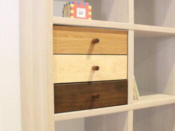 マガレコ天然木無垢材エコ塗装仕上げ国産木製チェスト・オープンシェルフ・ステップシェルフ・階段ラック