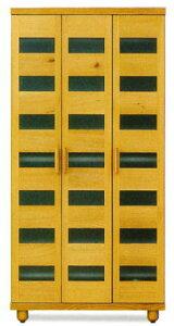 天然木オーク材使用のナチュラルなシューズボックス木製自然塗料オイル仕上げ・国産・日本製ロー&ハイタイプ木製脚付きアジャスター付き別注脚高可40足収納