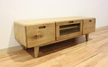 天然木ナラ無垢材使用のテレビ台・脚付きオイル塗装仕上げ120150cm